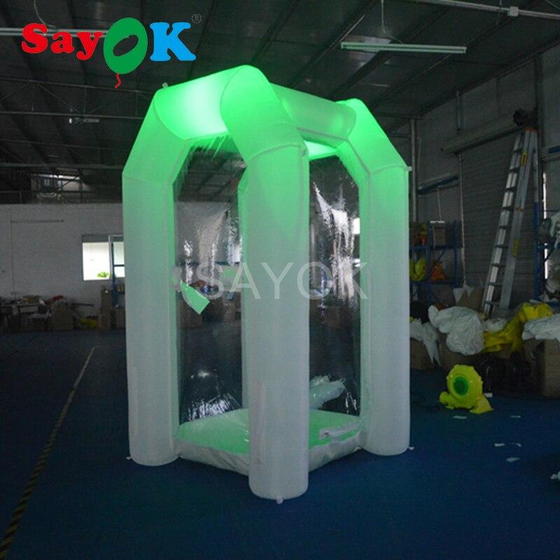 Надувные деньги дуя 1 м или 2,5 м с высокой светодиодный свет денежных захватить стенд для коммерческой рекламы развлечения
