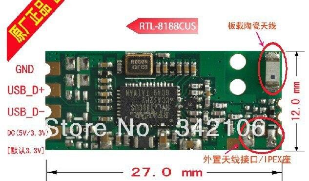 Free Shipping! 1pc W2 Realtek RTL8188CUS 150M USB WIFI module low-power wireless network card wifi module