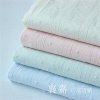 Хлопковая белая ткань хлопковая ткань жаккард пасторальное маленькое легкое платье ткань для рубашек юбок детская одежда ткани