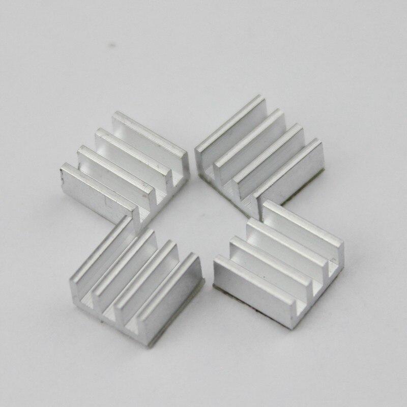 50 stücke 7*7*3,5mm Kleber Aluminium-kühlkörper für Computer für Xbox360 PS Vga-grafikkarte DDR RAM Videospeicher