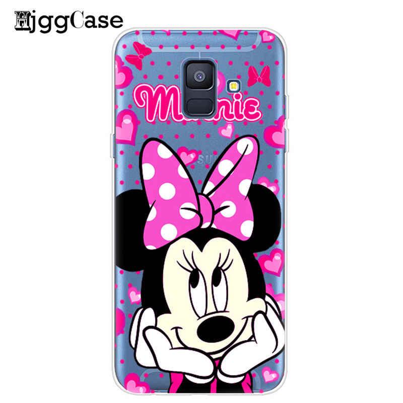 Cute Minnie Phone Case For Coque Samsung Galaxy A5 A520 S6 S7 Edge S8 S9 Plus J3 J5 J7 2017 J4 J6 A6 A8 Plus 2018 Soft Cover