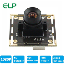 ELP 1080 P Высокоскоростной 2MP Full HD мини USB 2,0 камера без искажений объектива для Android, Linux, Windows, MAC OS
