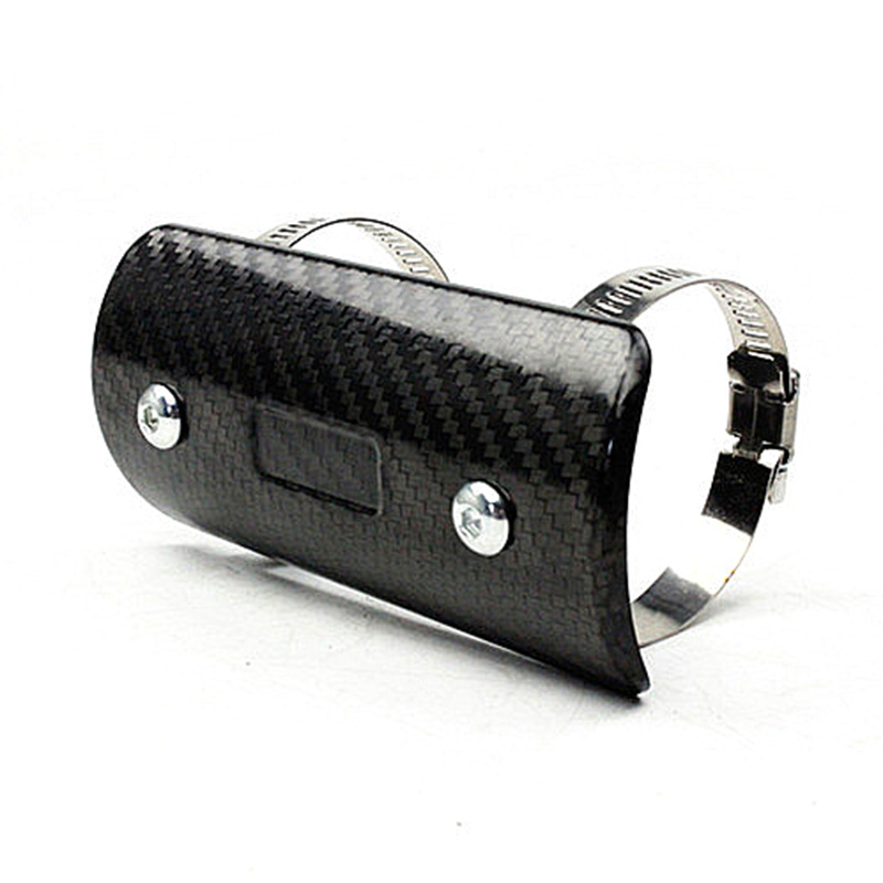 TKOSM Motorcycle Exhaust Muffler Cover Carbon Fiber Color Protector Heat Shield Cover Guard TMAX530 CB400 CBR300 Z250 Z750 ...