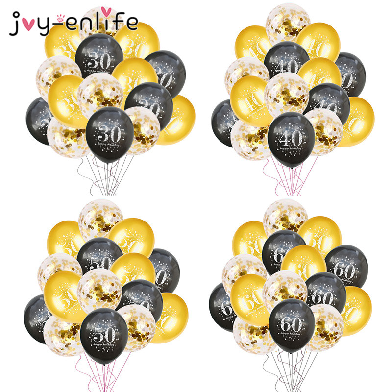 Sunny Fudanl 15pcs 16inch Rose Gold Number Letter Balloons Birthday Party Balloons 18 21 30 40 50 60th Adult Birthday Party Decoration Event & Party Ballons & Accessories