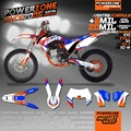 Customized Team Graphics Backgrounds SIXDAYS Custom Decals 3M Stickers Kits For  KTM EXC W 08-17 SX SXF07-16 125 300 450 500