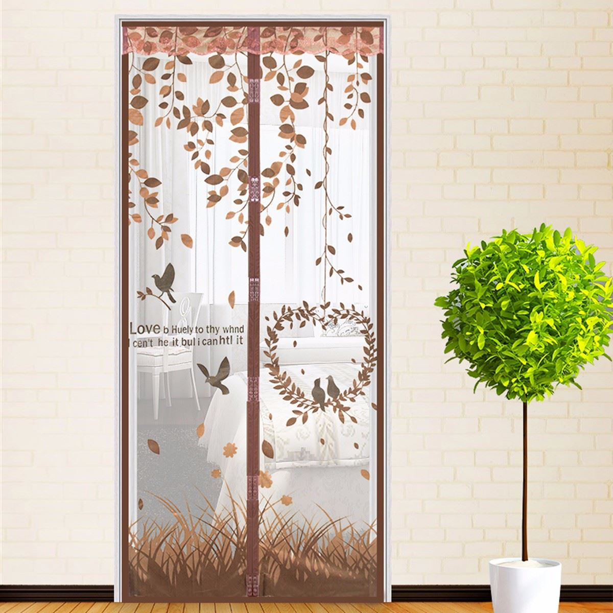 Mesh door magnetic bug net insect mosquito magnetic snap for Insect door screen