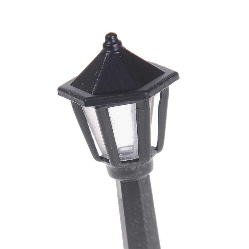 5 sztuk pociągu N skala światła modelu lampy ogrodowe lampy uliczne modelu budynku światła pojedyncze skala głowy latarnie