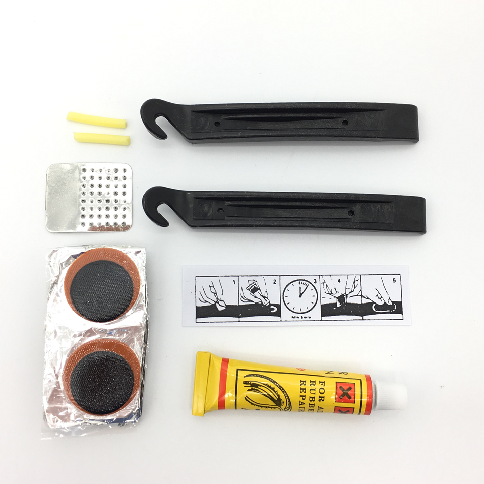 Bike Tire Repair Kits Bicycle Repair Tools Bike Tools Bicycle Accessories Rubber Patch Glue Lever For Cycling Portable Kits Sets