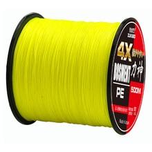 ZUKIBO 4X 500M Super Strong 100% Multifilament PE Fishing Line 4 Strands Braided Wires 8LB,10LB,20LB,30LB,40LB,50LB, 80LB