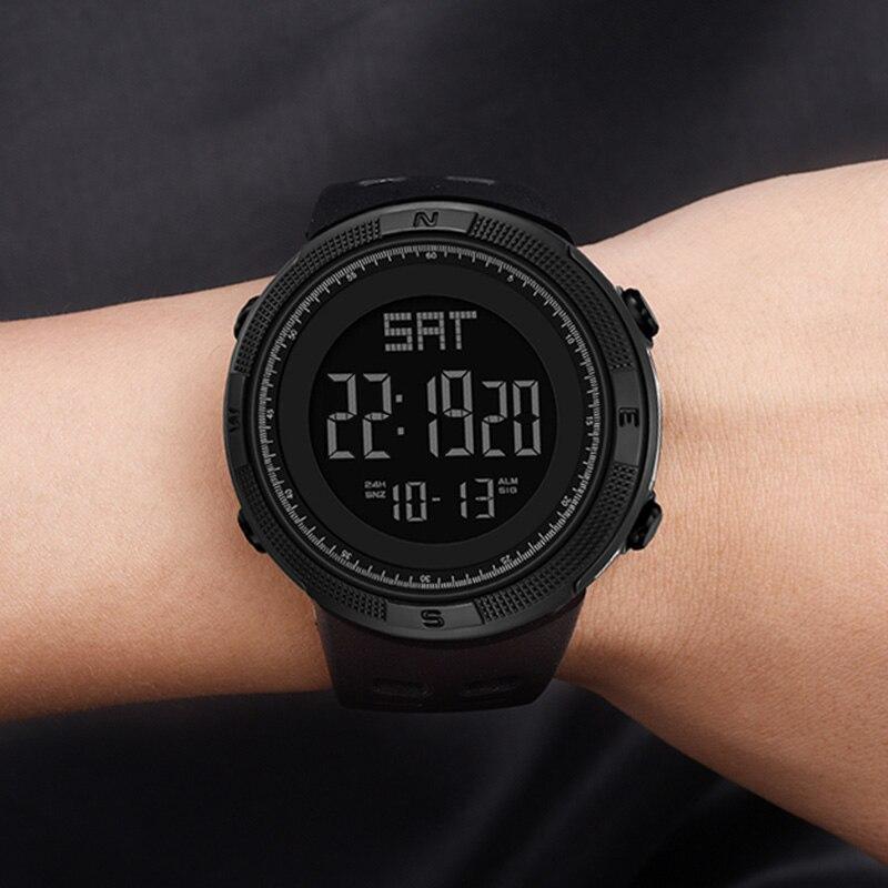 Relógio digital masculino esportes relógio eletrônico militar panars à prova dwaterproof água led de fitness g relógio ao ar livre s choque para correr cronógrafo