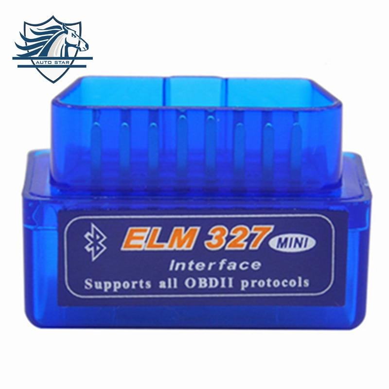 Prix pour TOP 100% Matériel V1.5 Super MINI ELM327 Logiciel V2.1 Bluetooth 12 Sortes Multi-langugae OBDII CAN-BUS Travaux SUR Android couple/PC