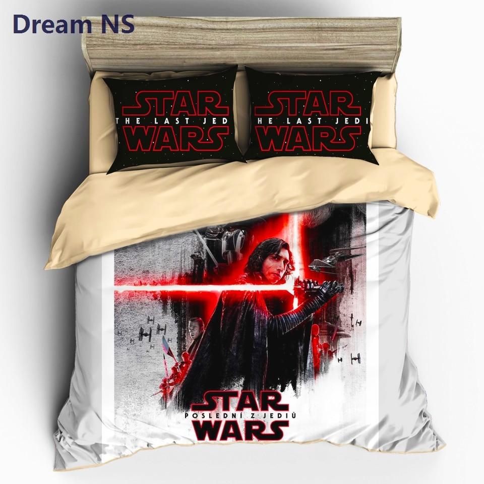 Dream NS Star Wars Bedding Set Movie Series Printed Duvet Cover Lightsaber Bedclothes Comfortable Bedlinens AU King Size