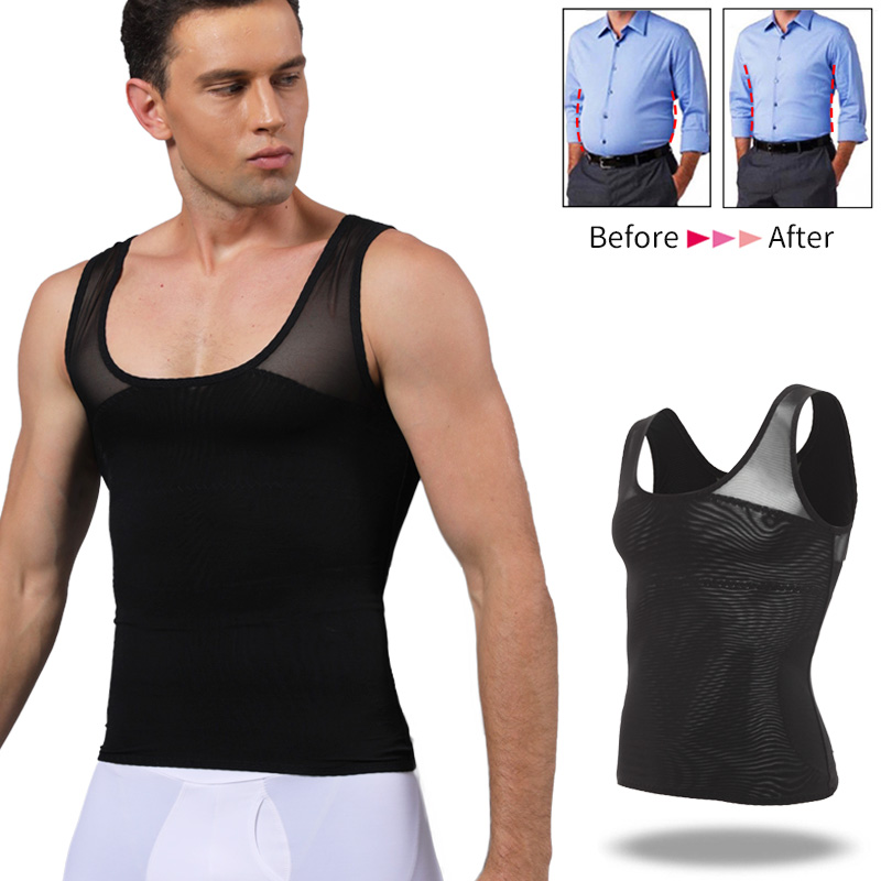 Men Body Shaper Belly Control Slimming Shapewear Waist Trainer Man Shapers Corrective Posture Vest Modeling Underwear Corset