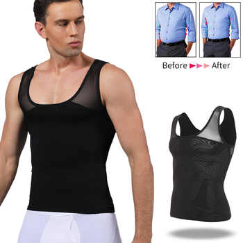 Men Body Shaper Belly Control Slimming Shapewear Waist Trainer Man Shapers Corrective Posture Vest Modeling Underwear Corset - DISCOUNT ITEM  35% OFF All Category