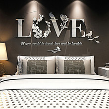 3D Love Quote Removable Wall Stickers