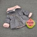 Новорожденных девочек и мальчиков осенью и весной куртка С Капюшоном детская Прекрасный куртка 66-120 см высота