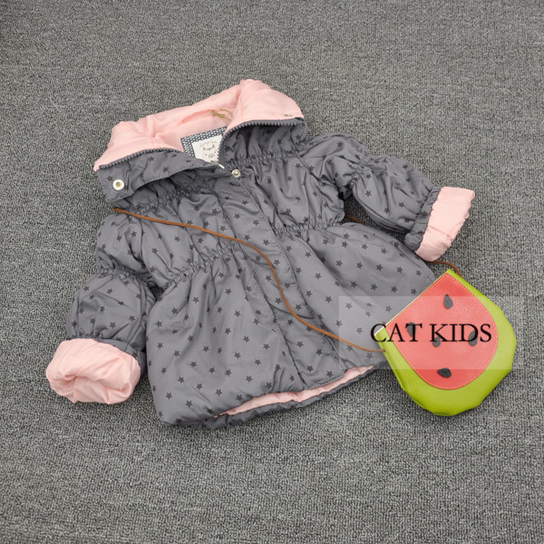 Baby girls autumn and spring Hoodie jacket children's Lovely jacket 66-120cm height