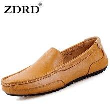 ZDRD 2017 Nuevos Hombres de la Moda mocasines Causales Zapatos de Alta Calidad Los Hombres de Cuero Genuino Zapatos de Los Planos con cordones de Los Hombres Mocasín Zapatos de conducción