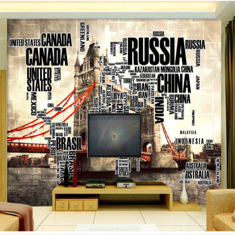 English alphabet tower bridge large world map wallpaper mural english alphabet tower bridge large world map wallpaper mural painting living room bedroom tv backdrop stereoscopic wallpaper in wallpapers from home gumiabroncs Choice Image