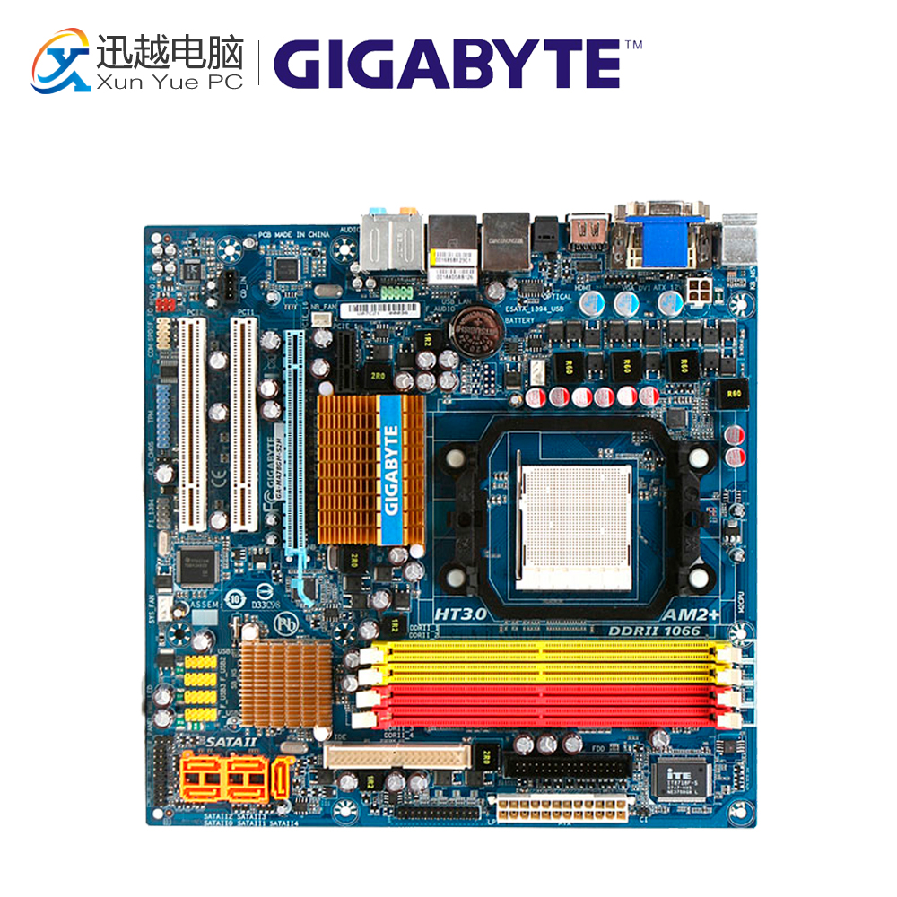 Gigabyte GA-MA78GM-S2H Desktop Motherboard MA78GM-S2HP 780G Socket AM2 DDR2 SATA2 USB2.0 Micro ATX for gigabyte ga ma78g ds3hp original used desktop motherboard for amd 780g socket am2 for ddr2 sata2 usb2 0 atx