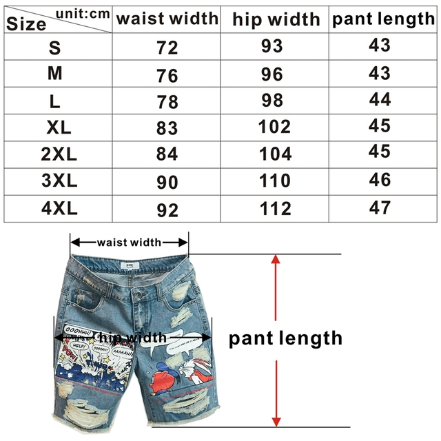 2020 Hot New Arrival Print Light Robin Jean Shorts Men Ulzzang Summer Pattern Knee Length Zipper Fly Mid Weight Jeans Dsq Mens 6