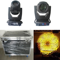 (2light+Flycase)Stage light moving head sharpy 350w 15r beam moving head 350w 17r moving head 3in1 with flightcase