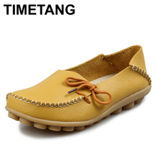 Free shipping Women Genuine Leather Mother Shoes Moccasins Women's Soft Leisure Flats Female Driving Shoes Flat Loafers 9 colors