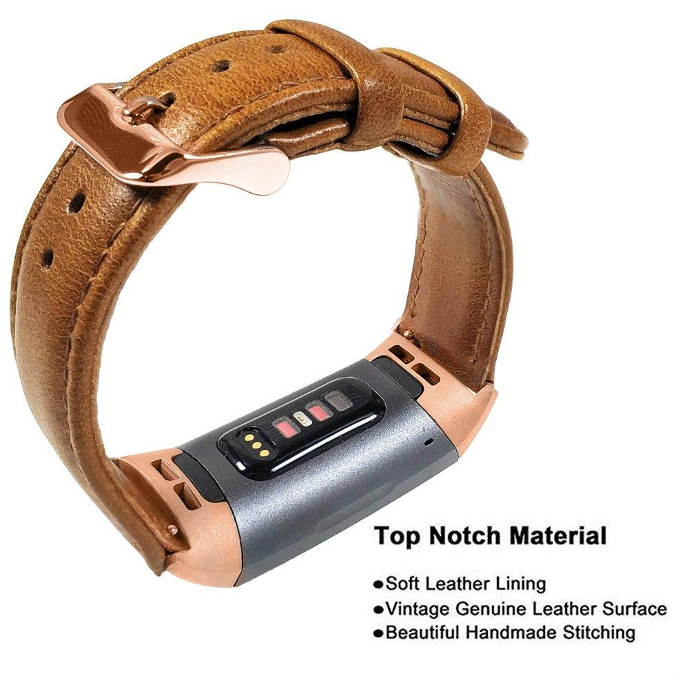 Image 2 - YOOSIDE for Fitbit Charge 3 Genuine Leather Band Strap Men Wonwen Wristband for Fitbit Charge 3 /Charge 3 SE Smart BraceletSmart Accessories   -