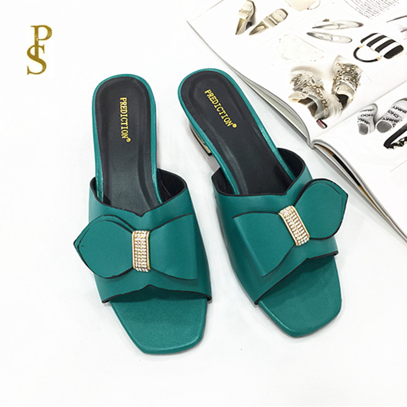 Image 4 - Mother slippers Shoes with bows for women African style shoesSlippers   -