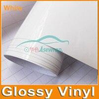 1 52x30m Roll High Glossy White Vinyl Wrap Car Wrap With Air Bubble Shiny Yellow Vinyl