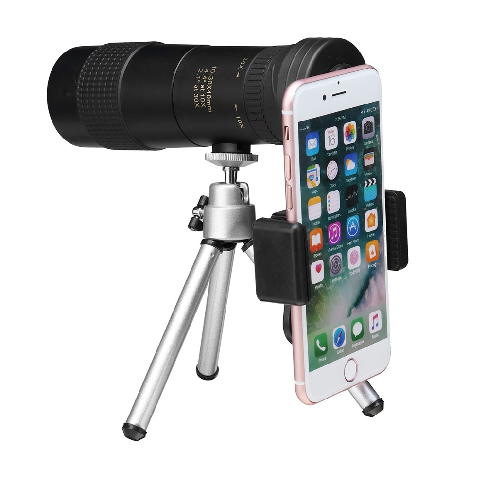 NEW Portable 10X - 30X High Power Zoom Optical Monocular Telescope Lens for IPhone Huawei Mobile Telephoto Lenses for Phone