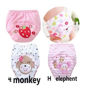 4pc/lot Pink Series Waterproof Baby Girls Potty Training Pant Infant Underwear Panties Newborn Underclothing suit 6 to 10kg