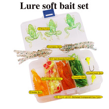 Здесь можно купить   50 pcs Soft Bait Sea Fishing Tackle Wobbler Jigging Fishing Lure Silicone Bait Soft Worm Shrimp Set And Tackle Box Fishing