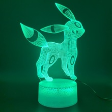 Led Night Light Game Pokemon Go Umbreon Figure Home Decoration 3d Lamp Birthday Gift for Kids Bedroom Novelty Eevee Family