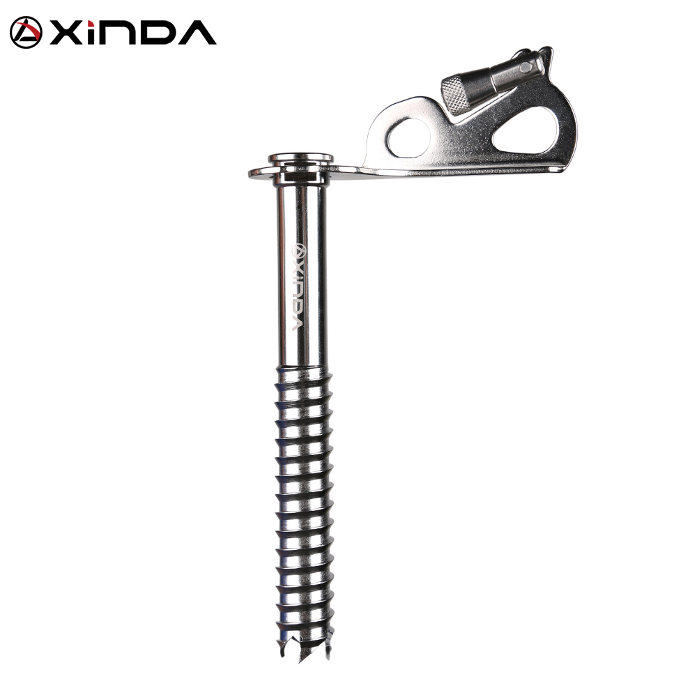 Xinda outdoor climbing ice drill ice climbing equipment stainless steel cone ice climbing ice bearing fulcrum polished stainless steel ice utility tong 30cm length