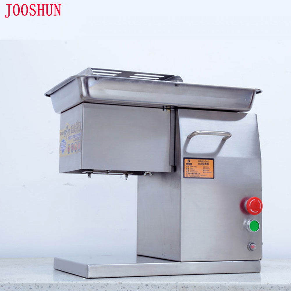 Commercial Meat Slicer Stainless steel Meat Cutter Machine 1.8mm to 20mm thickness 550W Meat Slicing Machine 250kg/h Production machine