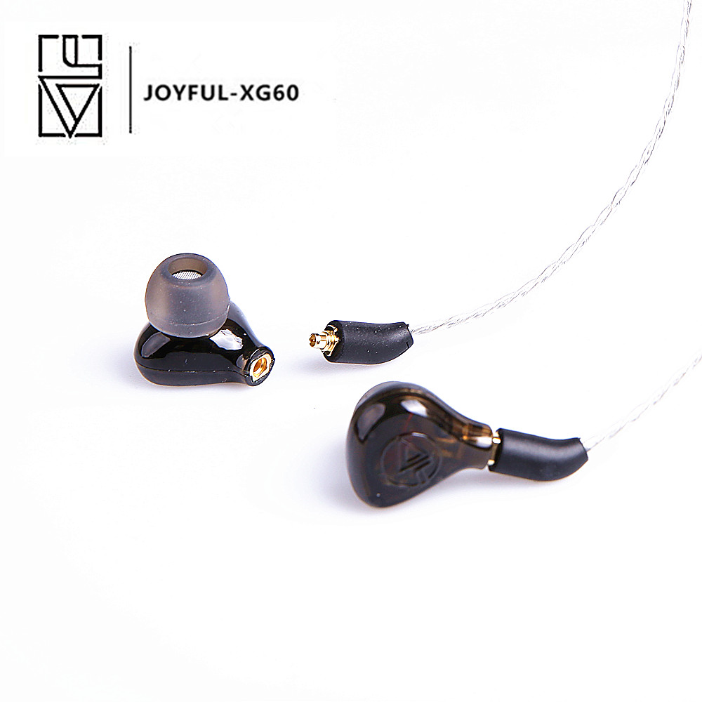 YINFU XG60 Balanced Armature with Dynamic metal in-ear Monitor Dynamic Earphones Hifi Bass Copper Earphone original senfer dt2 ie800 dynamic with 2ba hybrid drive in ear earphone ceramic hifi earphone earbuds with mmcx interface