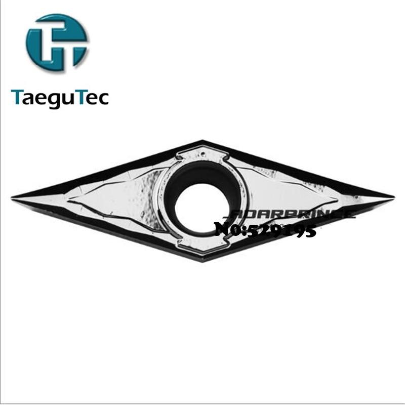 オリジナル Taegutec VCGT160402 FL K10 VCGT160404 FL K10 VCGT160408 FL K10 VCGT 160408 160402 160404 10 個本超硬インサート  グループ上の ツール からの ターニングツール の中 1
