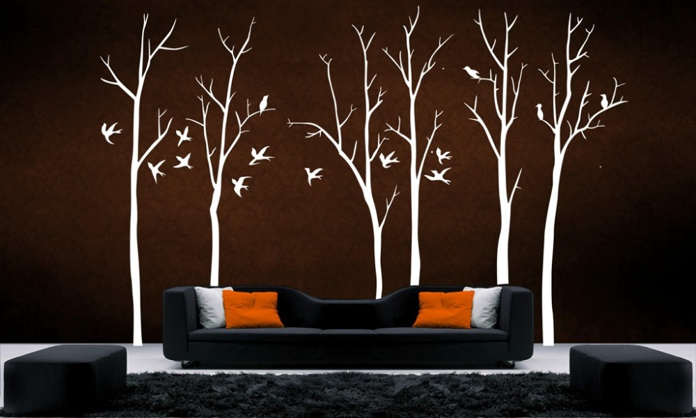 Stunning Tree Branch II Wall Art Decal Removable Vinyl Stickers Home Decor Large Tree Branches Wall Stickers For Kids Room D817