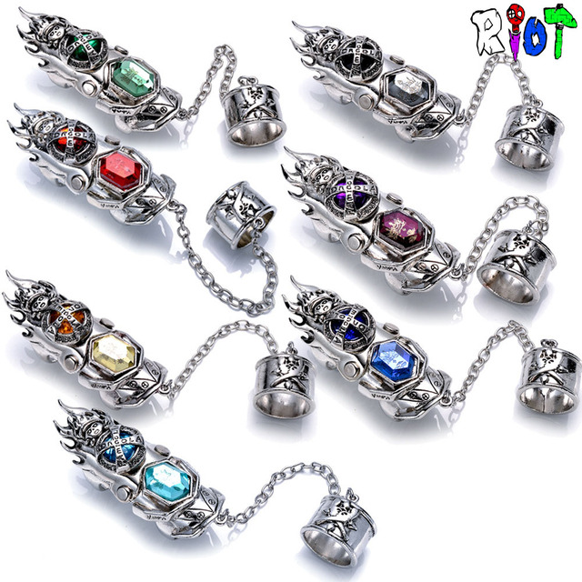 1pcsset Katekyo Hitman Reborn Ring Vongola Family Anime 6 Color