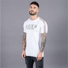 1665423cc9 Camisas dos homens camisa Da Forma t NOVO Fino masculino Lazer academias  treino de fitness de