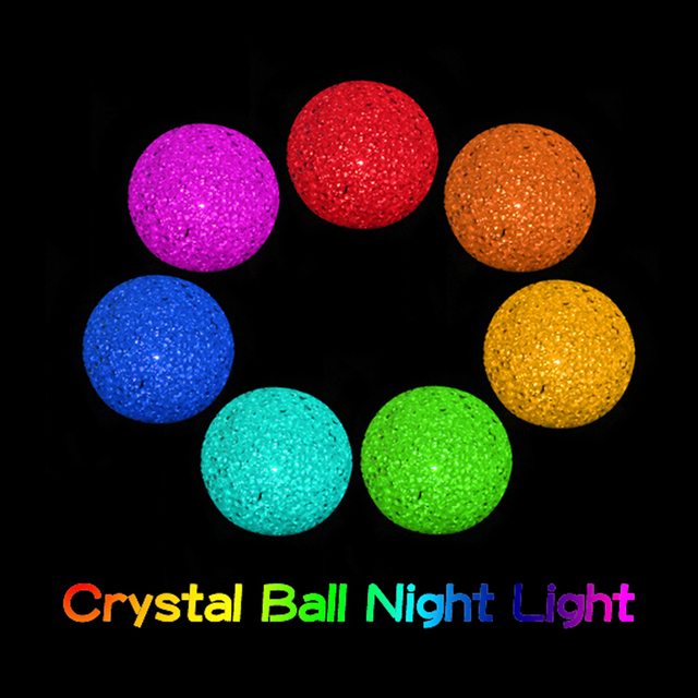 Warehouse Price Lovely New Color Changing Crystal Ball LED Lamp Color Changing Magic Party Xmas Gift  Night Lights  MTY3