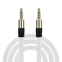 Bracelet bonne qualité mode blanc noir 3.5mm aux audio câble pour ordinateurs voitures téléphones et haut-parleurs