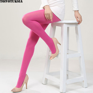 TOIVOTUKSIA Collant Brillant Candy Women Tights 80D Colorful Solid Pantyhose Hosiery Velvet Sexy Tights