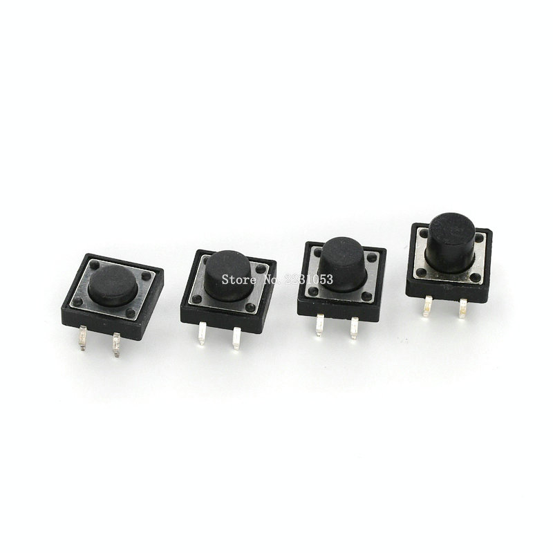 20PCS DIP Tactile Switch 12*12*5mm 7mm 8mm 9mm 12x12 4Pin Tact Push Button Micro Switch Self-reset Switches