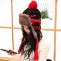 Шапка женская зимой лэй фэн крышка onta шляпа к северо-востоку крышка уха тепловой утолщение вязаная шапка