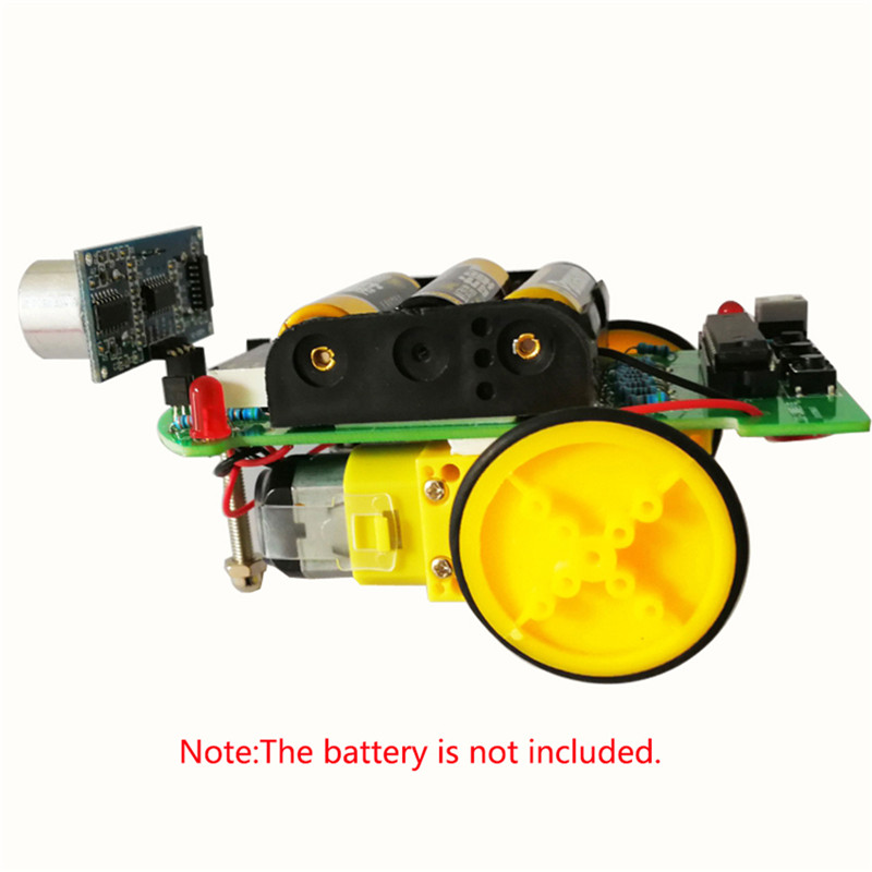 Intelligent Ranging Car DIY Kit Ultrasonic Ranging Module Board Size Baby Gift Manual Assembly Smart Electronic Car