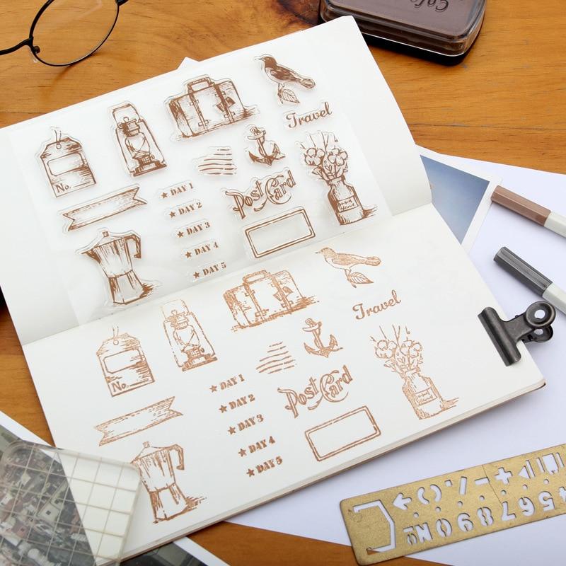 19st Stämpel Transparent Silikon Retro Ikon Rensa Stämplar För - Konst, hantverk och sömnad - Foto 3