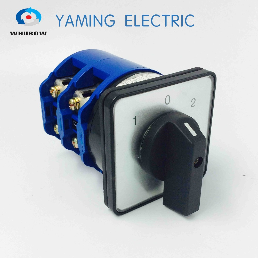 Rotary switch YMW26-20/3 Ui 690V Ith 20A 3 poles 3 Positions 12 Terminals selector changeover cam switch sliver contact ui 660v ith 20a rotary cam 4 screwed terminals universal changeover switch