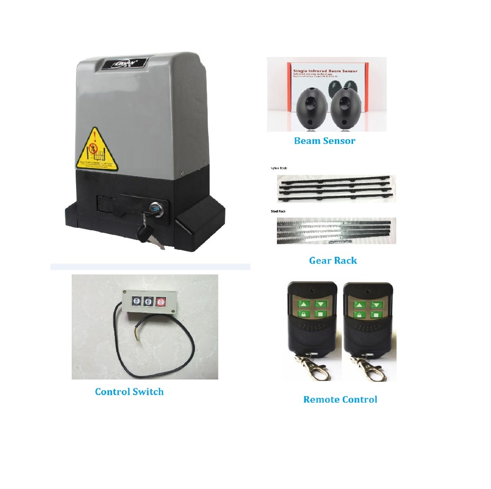 Automatic Remote Control Sliding Gate Motor Opener Kit With Magentic Limit Switch Driving Less Than 800kgs Portal For Access